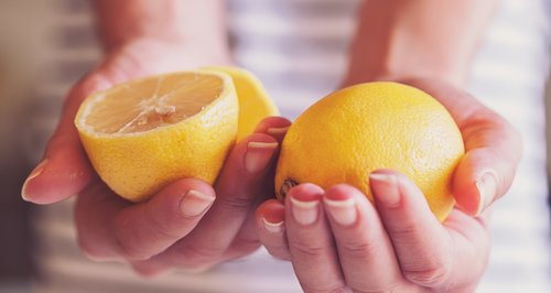Lemons used to illustrate breast cancer signs