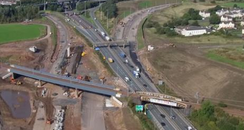 M8 Baillieston roadworks