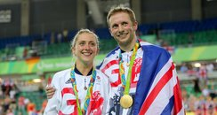 Laura Trott and Jason Kenny in Rio