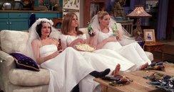 Rachael Monica Phoebe Friends Wedding dresses