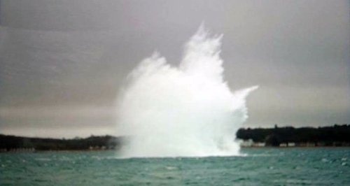 Portsmouth Harbour unexploded bomb
