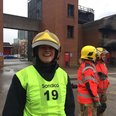 Heart's Alison Spooner as a firefighter
