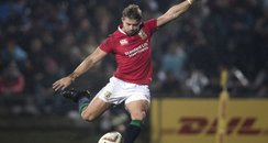 Leigh Halfpenny kicking for the Lions